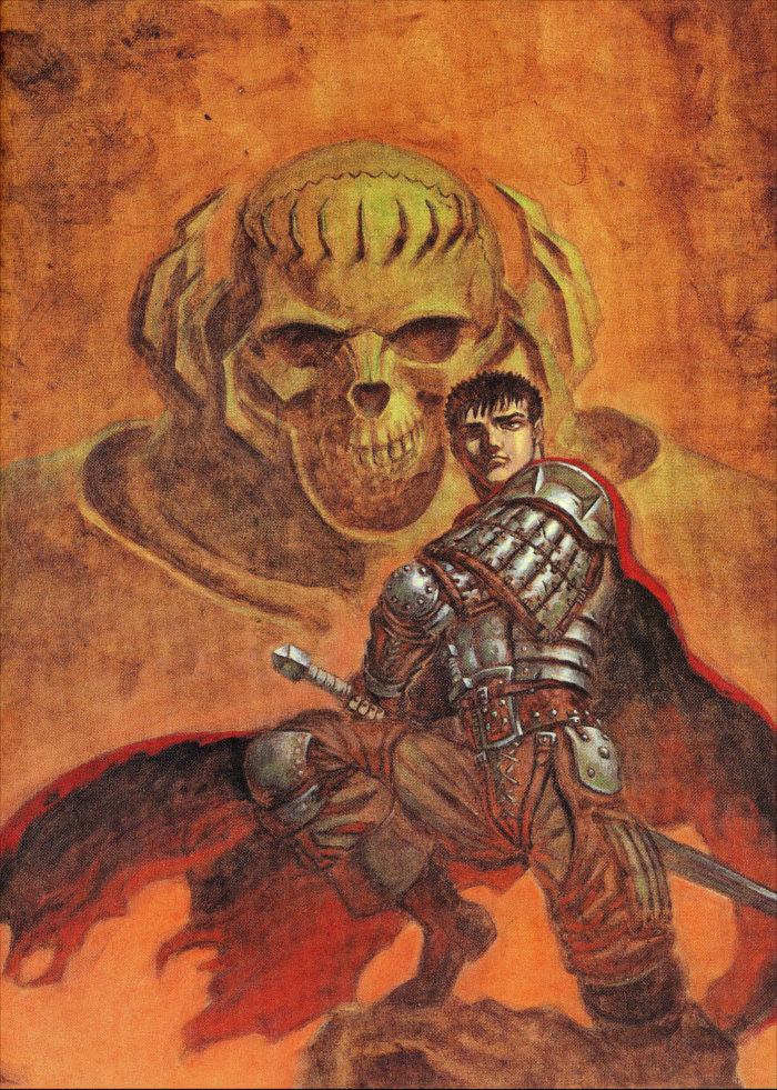 Illustration en pleine de page dans l'artbook Berserk Illustration file