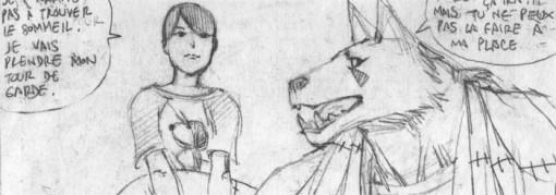 Chance, Xiong Mao et Ombre de Loup discutent