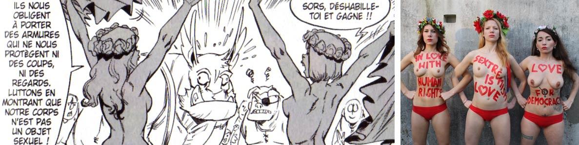 Ogrest rencontre un groupe similaire aux Femen (Dofus)