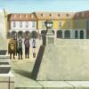 La guilde de Kirito dans une ville en attendant l'achat de leur maison