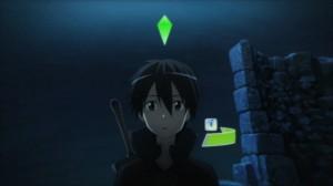 Klein rencontre Kirito en train de gagner de l'expérience. Il est étonné de voir un symbole de guilde