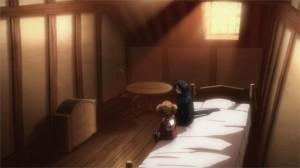 Silica et Kirito dans une auberge préparent le voyage au niveau 47