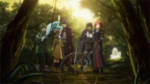 Silica explore des bois au niveau 35 avec un groupe de combattants dont Rosalia qui prépare un sale coup