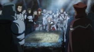 Asuna dirige le conseil de guerre du niveau 59