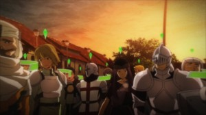 A la mort de Caynz, Kirito regarde les joueurs qui seraient en mode duel
