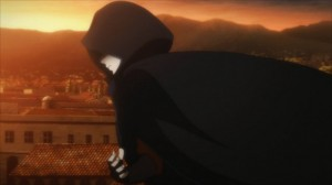 Kirito voit l'assassin de Yolko qui prend la fuite