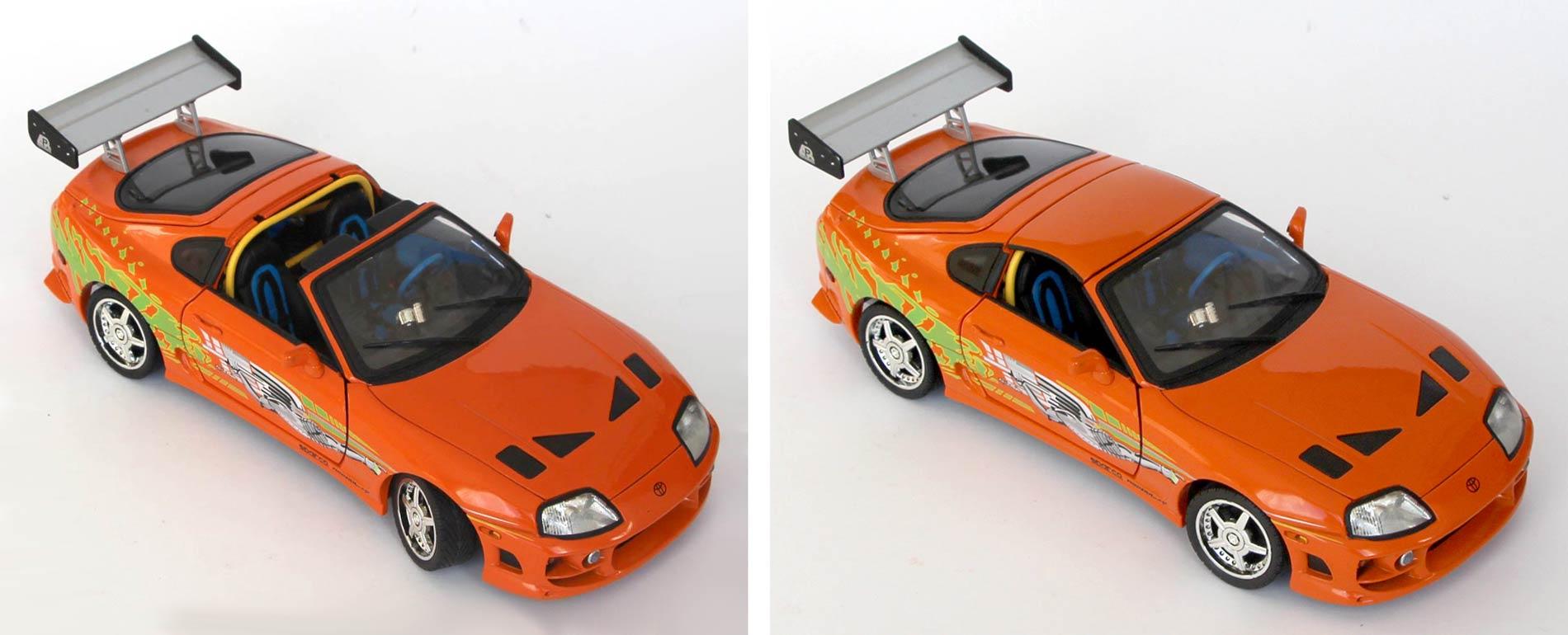 Fast and Furious - Toyota Supra targa avec et sans toit
