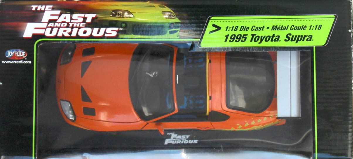 dessus Packaging Toyota Supra Fast and Furious