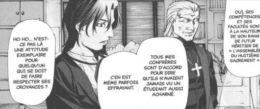 Tokiomi Tohsaka parle de Kirei à son père. Il loue ses talents avec de le recruter comme disciple