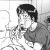 Hachimaki blessé après un combat dans le vaisseau spatial qui mène sur Jupiter