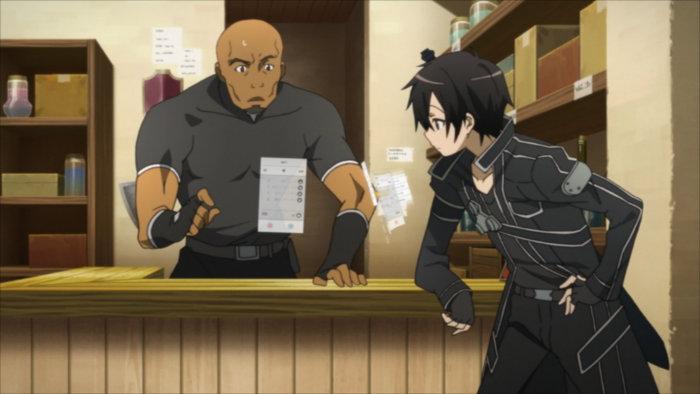 Kirito vend à Gil un ingrédient de niveau S