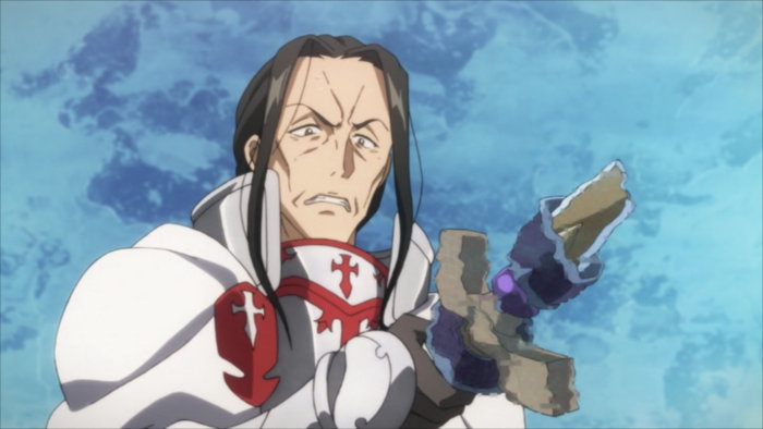L'arme de Kuradeel disparaît détruite par Kirito et son épée