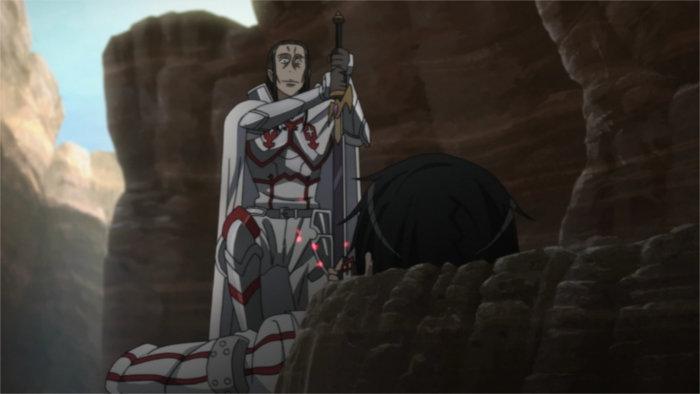 Kirito blessé par Kuradeel (Sword Art Online S01E10)