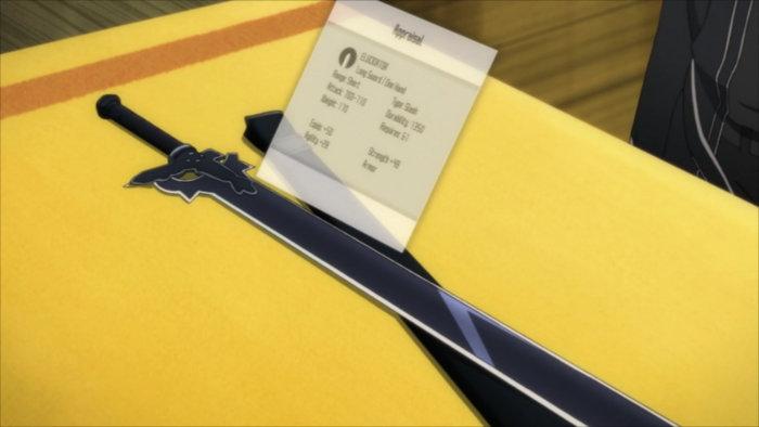 Caractéristique d'Elucidator une épée de Kirito