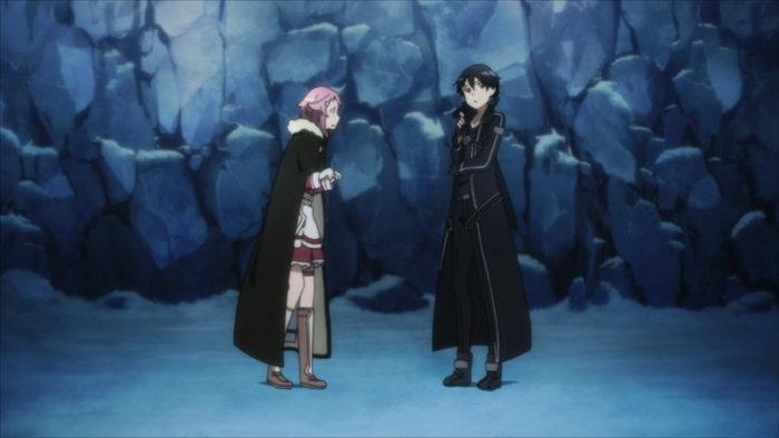 Kiriyo et Lisbeth enfermés dans un trou