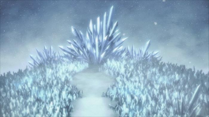 Chemin dans la montagne de glace qui mène au dragon qui possède les cristaux nécessaires à Lisbeth pour fabriquer des armes