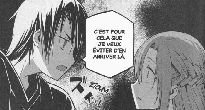 Kirito est allé rejoindre Asuna dans sa chambre car il sait comment retrouver sa rapière