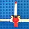 Vue de face de l'Alcorak de Goldorak en Lego