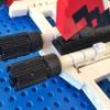 Vue des réacteurs de l'Alcorak de Goldorak en Lego