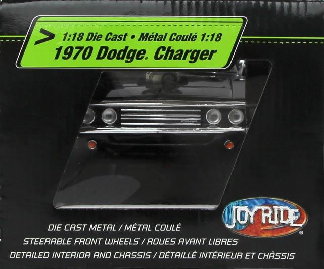 droite du packaging de la Dodge Charger Fast Furious 1/18 Joyride