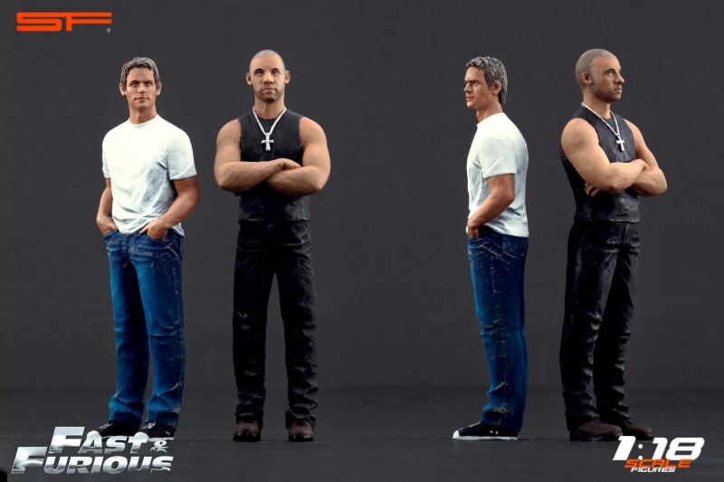 fast furious 1 figurines brian et dominic 1 18 scale figures fast furious figurines. Black Bedroom Furniture Sets. Home Design Ideas