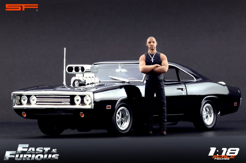 Figurine de Dom et sa Dodge Charger Fast and Furious