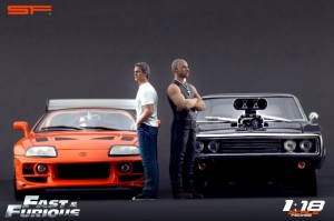 Fast & Furious : Figurines Brian et Dominic 1/18