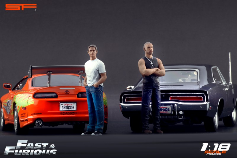 Fast and furious figurines Brian et Dominic