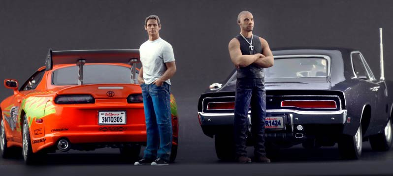 fast furious 1 figurines brian et dominic 1 18 scale figures. Black Bedroom Furniture Sets. Home Design Ideas