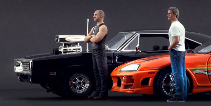 fast furious 1 dodge charger 1970 ech 1 18 joyride figurine de brian et dom au 1 18. Black Bedroom Furniture Sets. Home Design Ideas