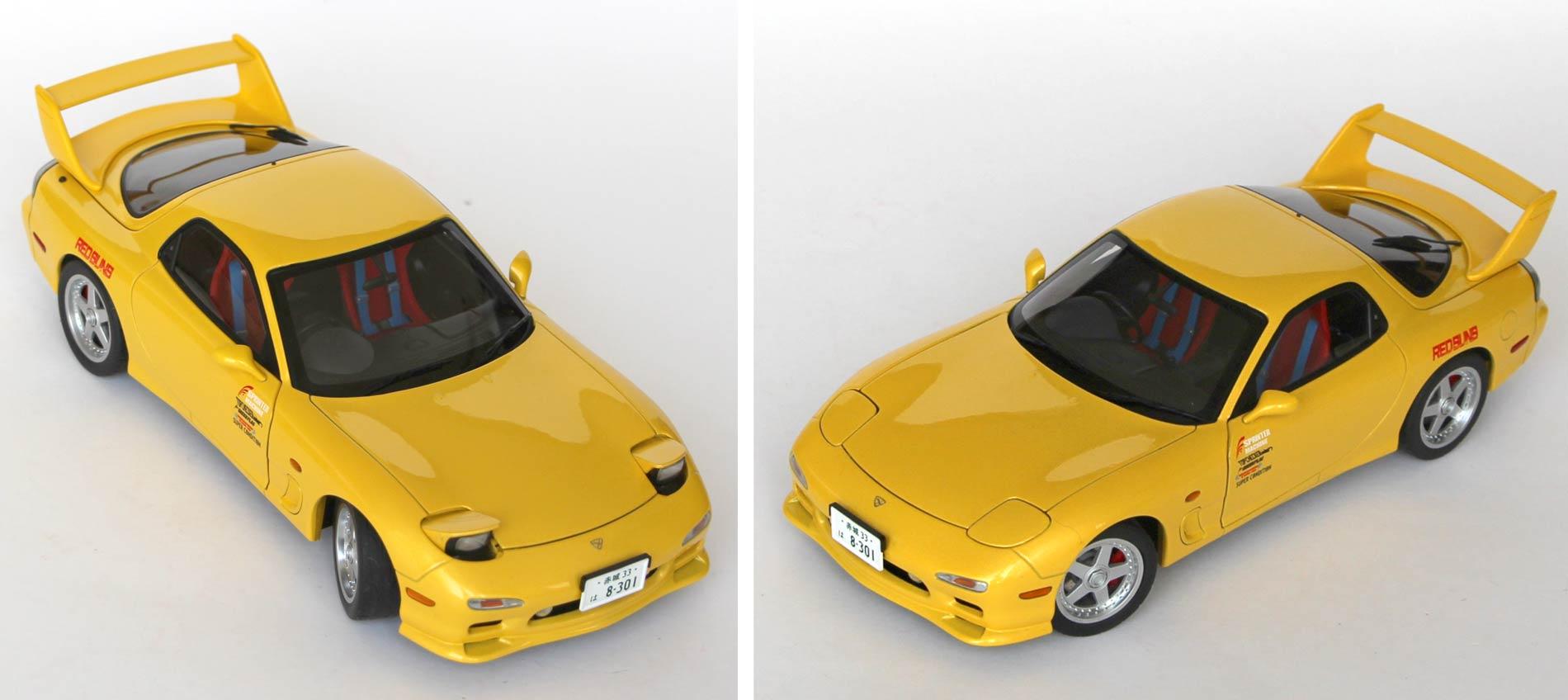 Phares rétractables de la Mazda RX 7 Initial D