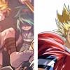 Un des elfes est inspiré de Hiruma dans Eyeshield 21