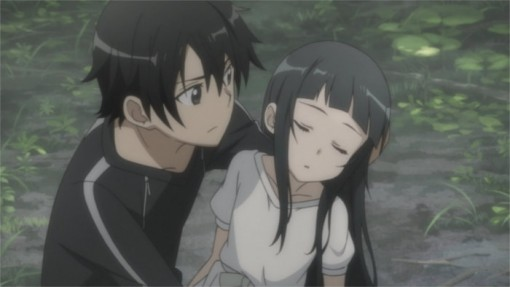 Quand kirito rejoint yui elle est 233 vanouie et amn 233 sique