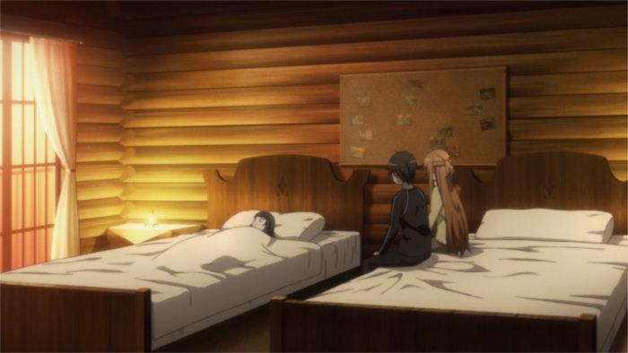 Après avoir rencontré Yui, Asuna et Kirito la ramène chez eux. Ils sont inquiets car elle est jeune