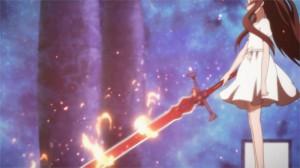 Arme de Yui : une épée des flammes plus grandes qu'elle