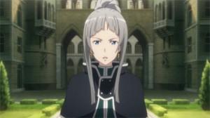 Yulier arrive à l'église où Kirito, Asuna et Yui se reposent après avoir mis en déroute la guilde Armée