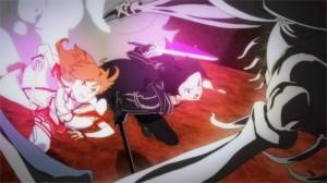 Kirito et Asuna face au boss du niveau 75