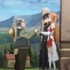 Kirito et Asuna saluent Nishida après avoir été rappelé par Heathcliff