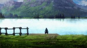 Lac du niveau 22 où Kirito pêche