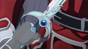 L'épée d'Asuna transperce Heathcliff