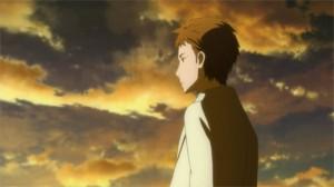 Kayaba regarde la destruction d'Aincrad après sa défaite face à Kirito et Asuna