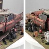 Christine Plymouth Fury 1/18 épave diorama