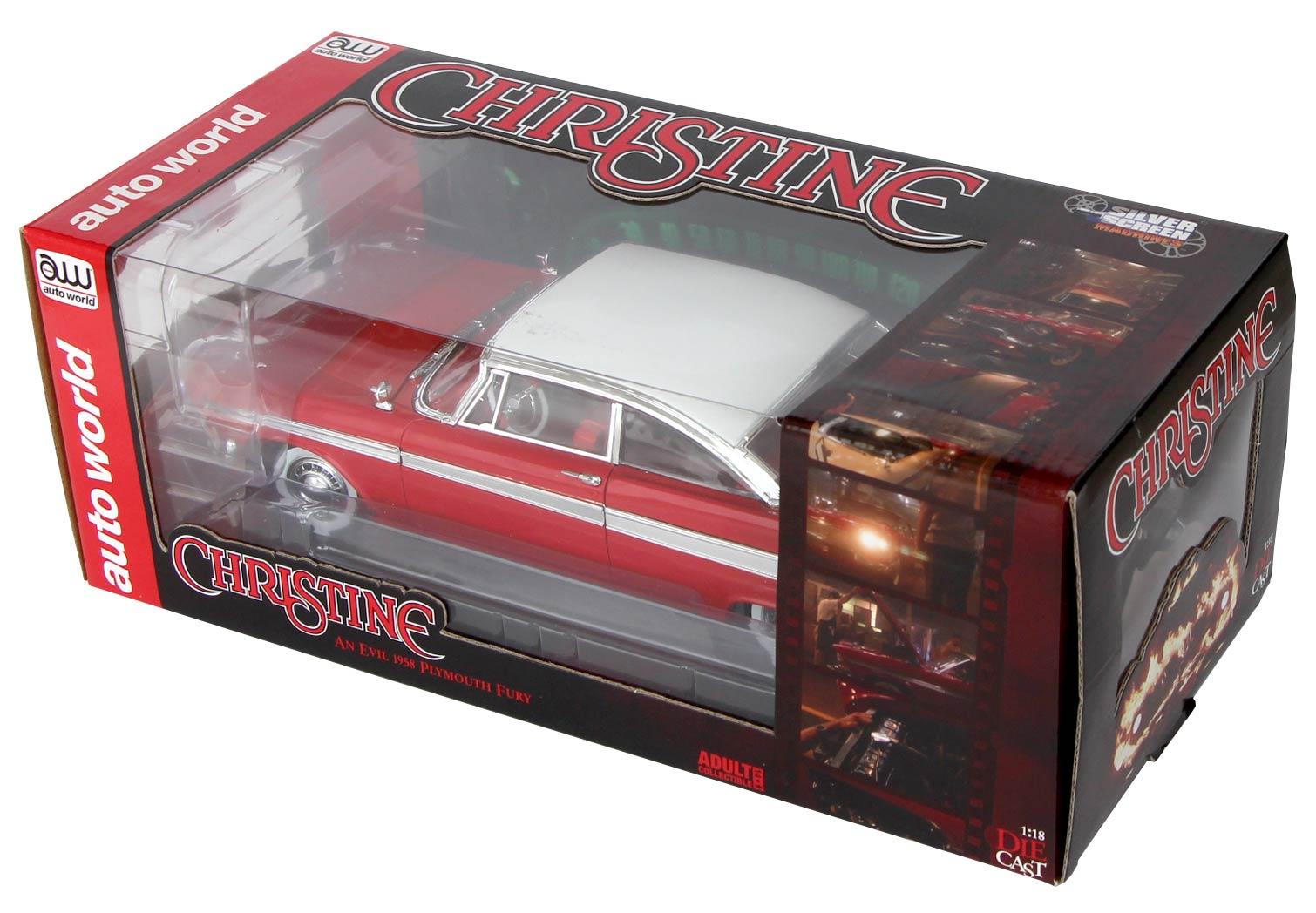 Boite packaging Christine Plymouth Fury 1-18 Auto World