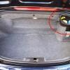 Bouchon d'huile et d'eau dans le coffre de la Boxster 986