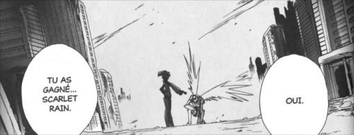 Défaite de Haruyuki face à Scarlet Rain, la chef de la Légion Rouge