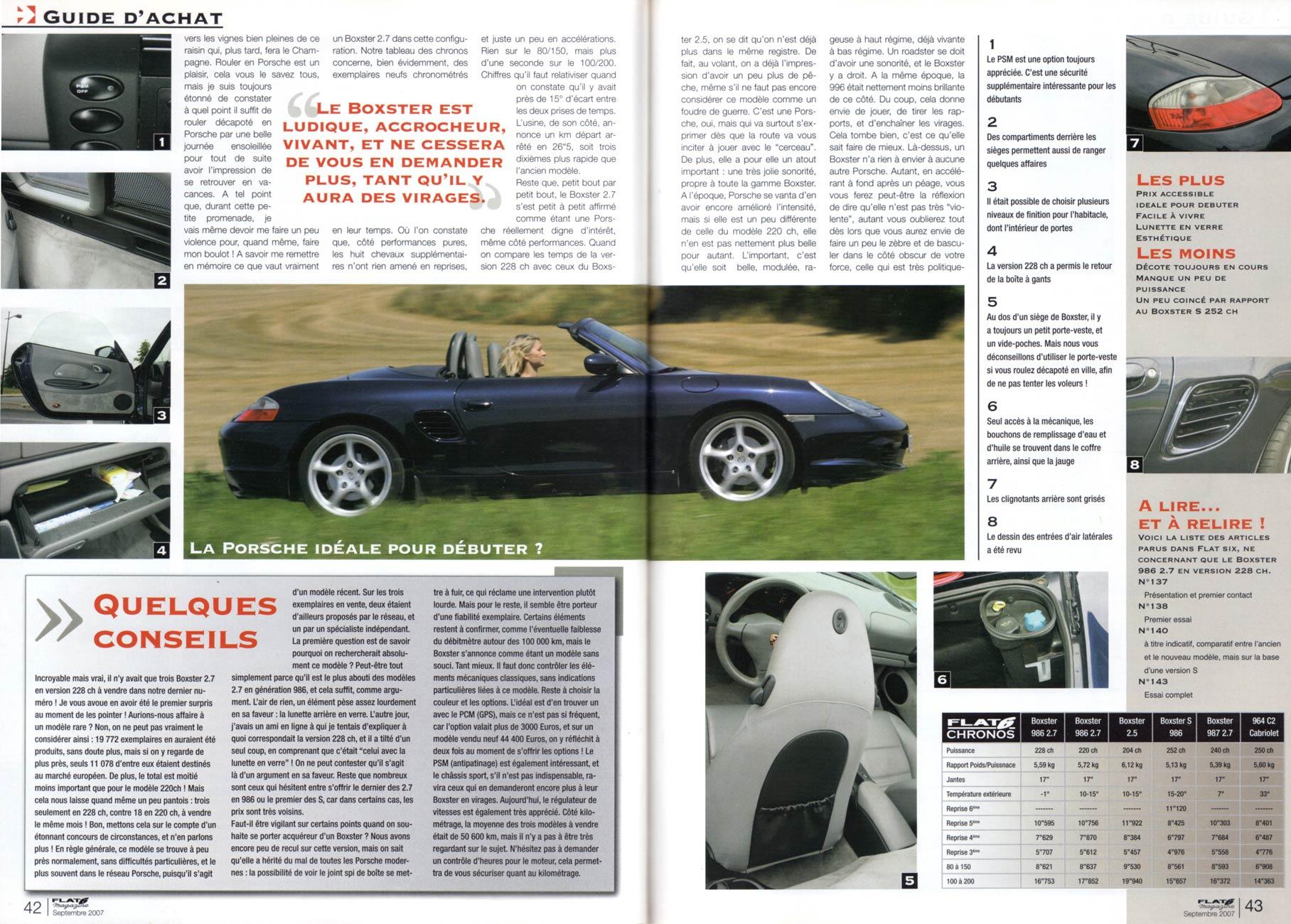 Flat 6 page 42 du numero 199 - Boxster