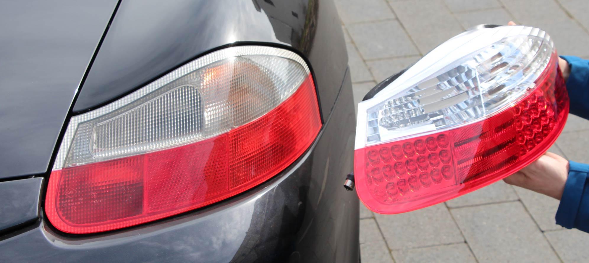 Comparaison Phares Boxster 986 LED et normal