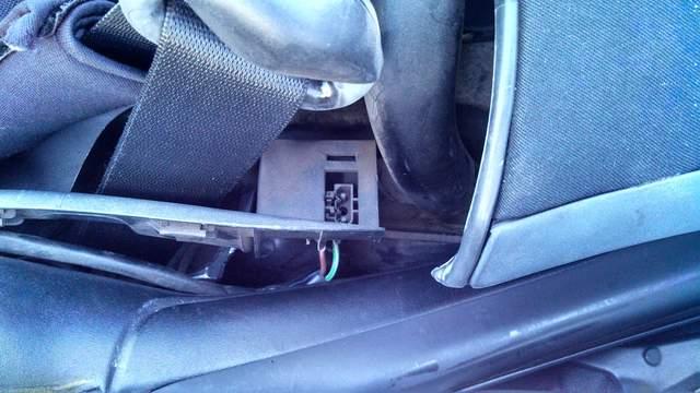 prise électrique Hard top Boxster 986