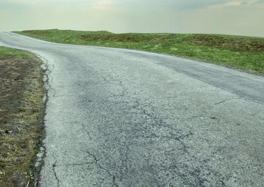 route campagne bitume