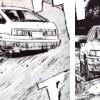 Takumi coduit la AE85 d'Itsuki